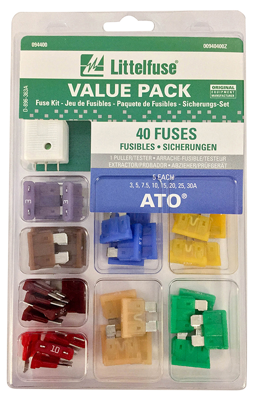 ATO Fuse Super Value Pack, 40 pcs