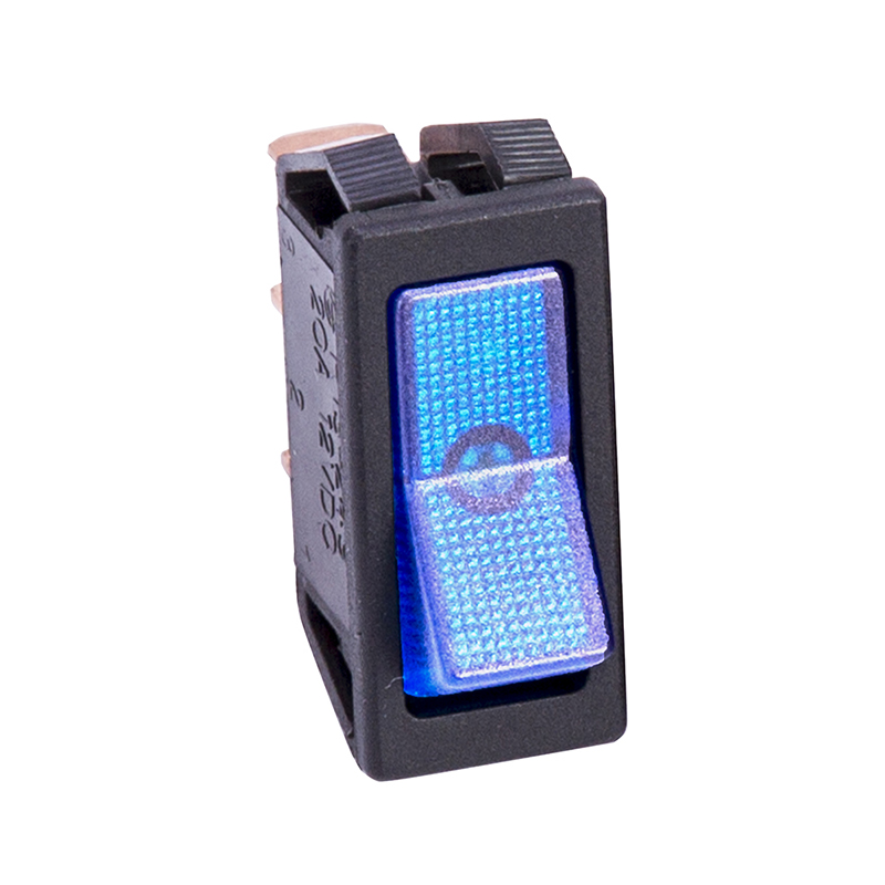 Blue Illuminated Rocker Switch