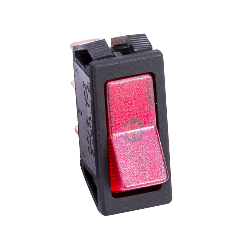 Red Illuminated Rocker Switch