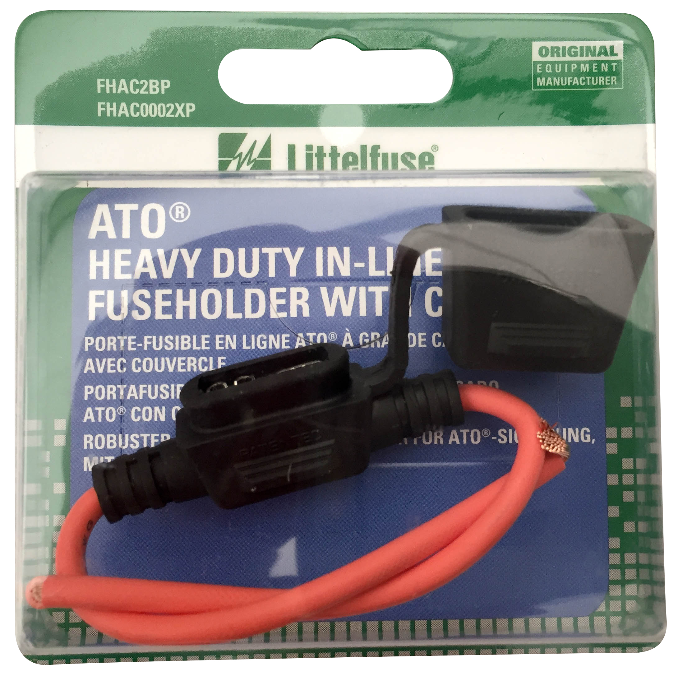 Sealed ATO Inline Fuse Holder, 12AWG Wire, 30A Max